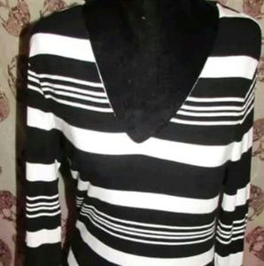 Black & White striped sweater by INC
